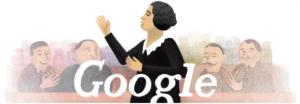 Doodle sobre Clara Campoamor